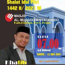 Satrio,M.A Ucapkan Selamat Hari Raya Idul Fitri 1442 H,Minal Aidin Wal Faizin Mohon Maaf Lahir dan Bathin