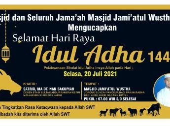 Satrio,M.A Ucapkan Selamat Hari Raya Idul Adha 10 Dzulhijjah 1442 H / 2021 M