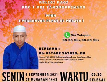 Perbanyak Pergi Ke Masjid ( PPKM ) On Air RRI Tanjungpinang