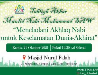Tabligh Akbar Bersama Mahasiswa KKN STAIN SAR Kepri Peringatan Maulid Nabi Muhammad SAW